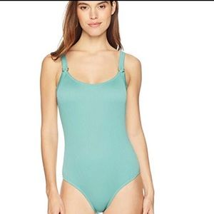 SALE NWT Jade Ribbed One Piece Swimsuit Small